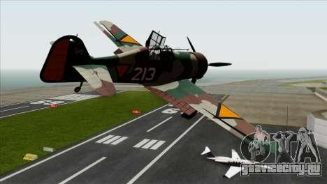 Fokker D.XXI для GTA San Andreas вид слева