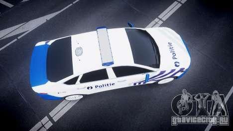 Ford Fusion 2014 Belgian Police [ELS] для GTA 4 вид справа