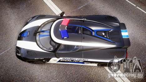 Koenigsegg Agera 2013 Police [EPM] v1.1 PJ3 для GTA 4 вид справа
