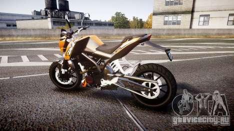 KTM 125 Duke для GTA 4 вид слева