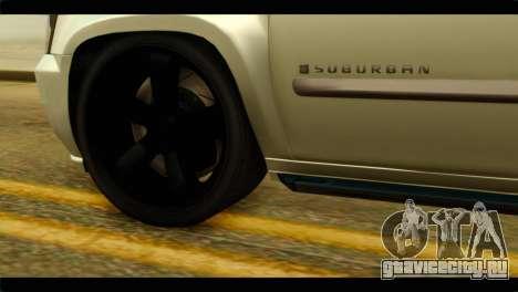 Chevrolet Suburban 2010 NFS для GTA San Andreas вид сзади слева