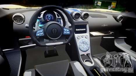 Koenigsegg Agera 2013 Police [EPM] v1.1 PJ3 для GTA 4 вид изнутри
