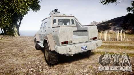 GTA V HVY Insurgent Pick-Up для GTA 4 вид сзади слева