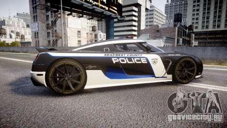 Koenigsegg Agera 2013 Police [EPM] v1.1 PJ3 для GTA 4 вид слева