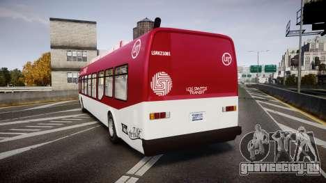 GTA V Brute Bus для GTA 4 вид сзади слева