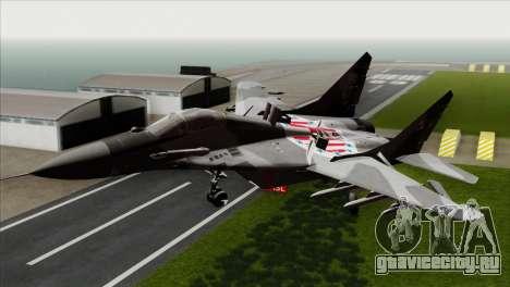 MIG-29A Polish Air Force Kosynierzy для GTA San Andreas