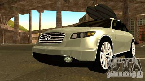 Infiniti FX 45 2007 для GTA San Andreas вид изнутри