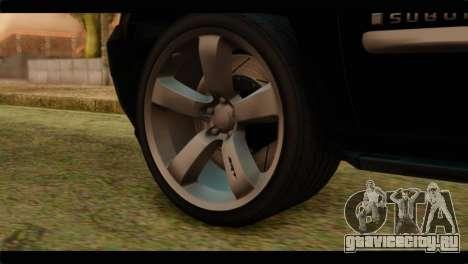 Chevrolet Suburban 2010 FBI для GTA San Andreas вид сзади слева
