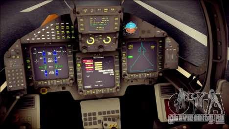 EF-2000 Typhoon  Federal Erusea Air Force для GTA San Andreas вид сзади
