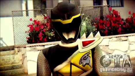 Power Rangers Kyoryu Black Skin для GTA San Andreas третий скриншот