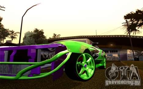 DGTK Elegy v1 для GTA San Andreas вид изнутри