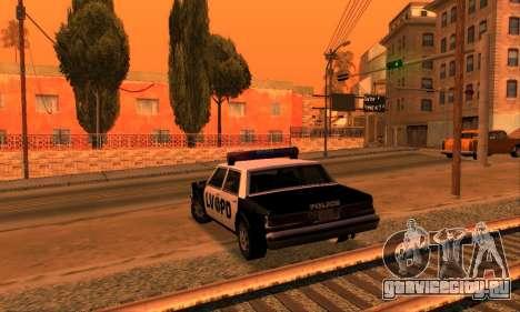 Beta LVPD Police для GTA San Andreas вид сзади