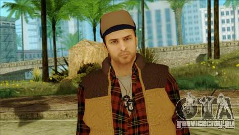 Big Rig Alex Shepherd Skin without Flashlight для GTA San Andreas третий скриншот