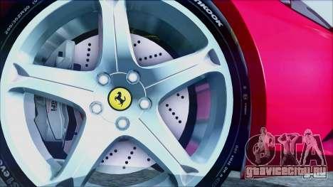 Ferrari California 2009 для GTA San Andreas вид сзади слева