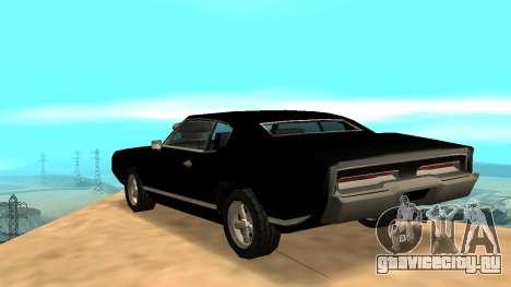 Sabre Charger для GTA San Andreas вид сбоку