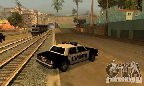 Beta LVPD Police для GTA San Andreas вид слева