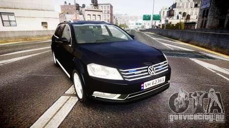 Volkswagen Passat B7 Police 2015 [ELS] unmarked для GTA 4