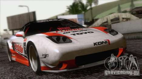 Acura NSX Miku Ghoul Itasha для GTA San Andreas вид сзади