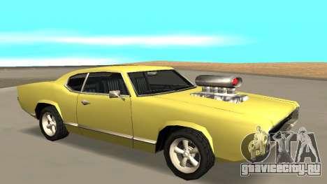 Sabre Charger для GTA San Andreas вид сзади