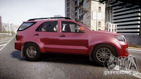 Toyota Hilux SW4 2015 для GTA 4 вид слева