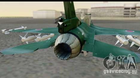 F-2A Zero Dark Green для GTA San Andreas вид сзади