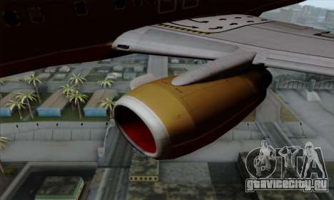 Boeing 737-800 Southwest Gold для GTA San Andreas вид справа