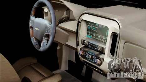 Chevrolet Silverado 2014 LTZ для GTA San Andreas вид справа