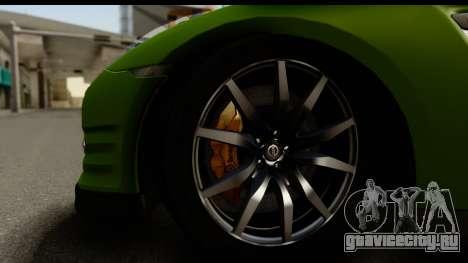 Nissan GT-R Dragster для GTA San Andreas вид сзади