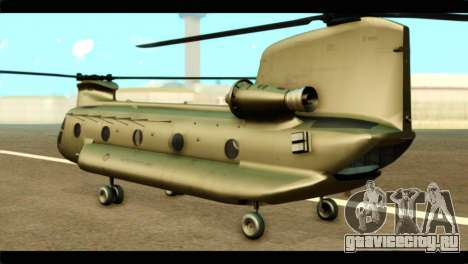 CH-47 Chinook для GTA San Andreas вид слева