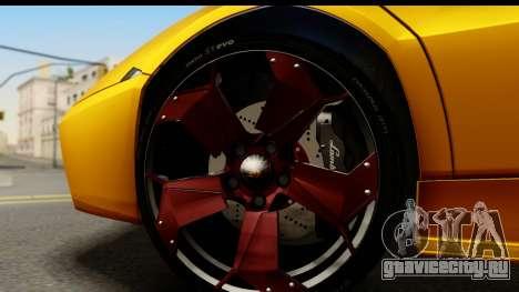 Lamborghini Reventon 2008 для GTA San Andreas вид сзади
