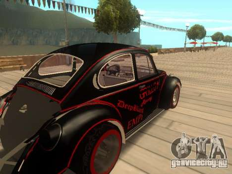 Volkswagen Super Beetle Grillos Racing v1 для GTA San Andreas вид сзади слева