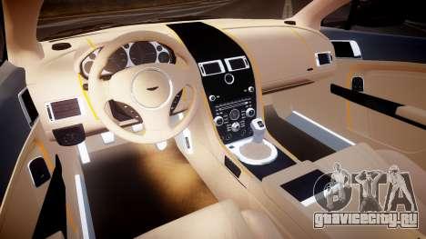 Aston Martin V12 Vantage 2010 для GTA 4 вид сзади