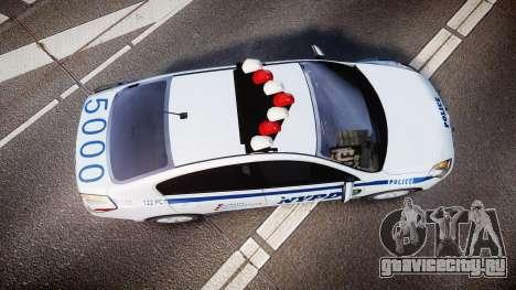 Nissan Altima Hybrid NYPD для GTA 4 вид справа