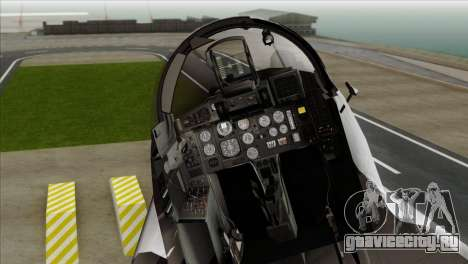 MIG-29A Polish Air Force Kosynierzy для GTA San Andreas вид сзади
