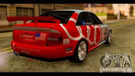 Audi S4 B5 2002 Champion Racing для GTA San Andreas вид слева