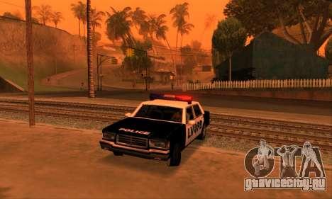 Beta LVPD Police для GTA San Andreas вид изнутри