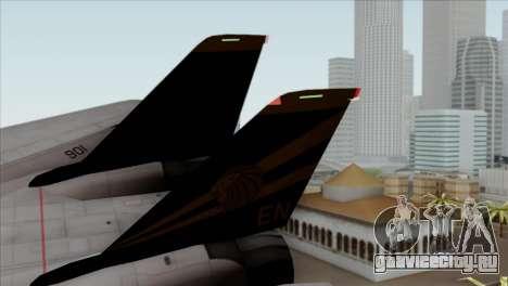 Grumman F-14B VF-193 Lions для GTA San Andreas вид сзади слева