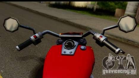 Honda Shadow 750 для GTA San Andreas вид сзади слева
