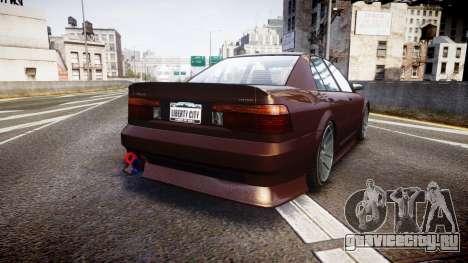 Maibatsu Vincent 16V Tuned для GTA 4 вид сзади слева