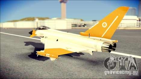 EF-2000 Typhoon  Federal Erusea Air Force для GTA San Andreas вид слева