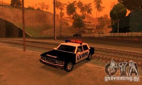 Beta LVPD Police для GTA San Andreas вид сзади слева