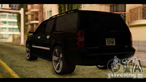 Chevrolet Suburban 2010 FBI для GTA San Andreas вид слева