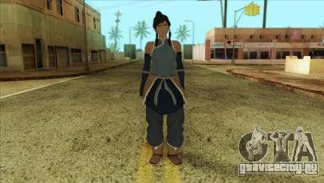 Korra Skin from The Legend Of Korra для GTA San Andreas