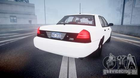 Ford Crown Victoria LCPD Unmarked [ELS] для GTA 4 вид сзади слева