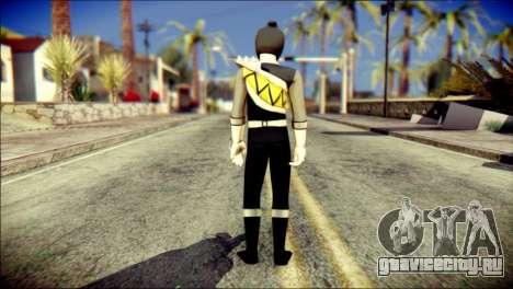 Power Rangers Kyoryu Black Skin для GTA San Andreas второй скриншот