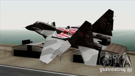MIG-29A Polish Air Force Kosynierzy для GTA San Andreas вид слева