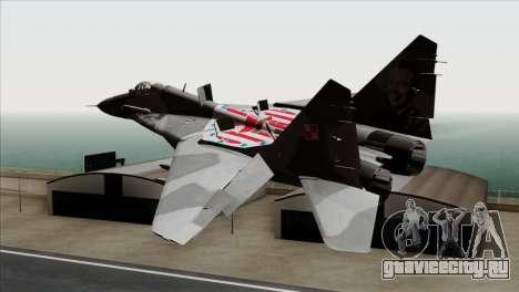 MIG-29A Polish Air Force Kosynierzy для GTA San Andreas вид слева