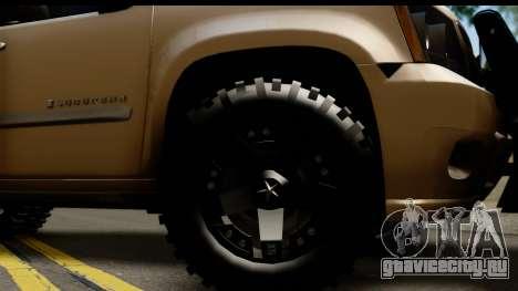 Chevrolet Suburban 4x4 для GTA San Andreas вид сзади