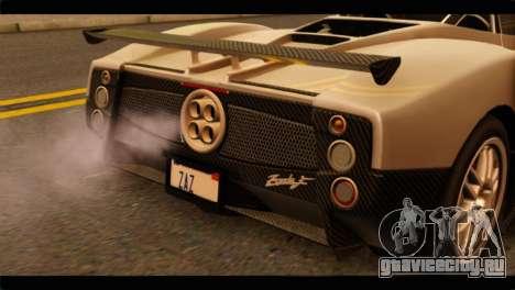 Pagani Zonda F для GTA San Andreas вид сзади