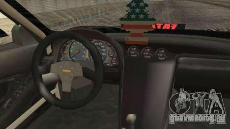 Acura NSX Miku Ghoul Itasha для GTA San Andreas вид справа